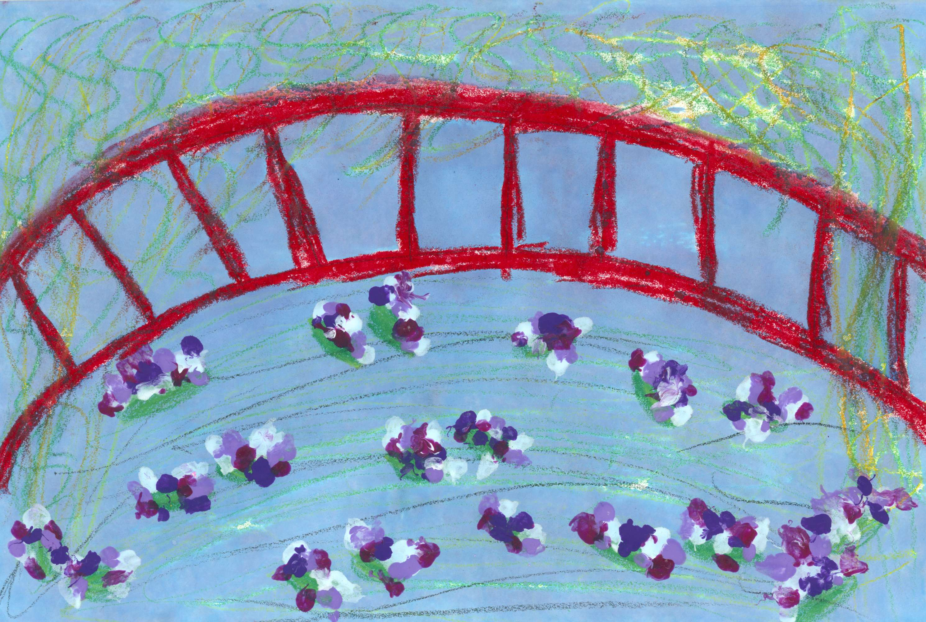Inspired by Monet's  Water Lily Pond