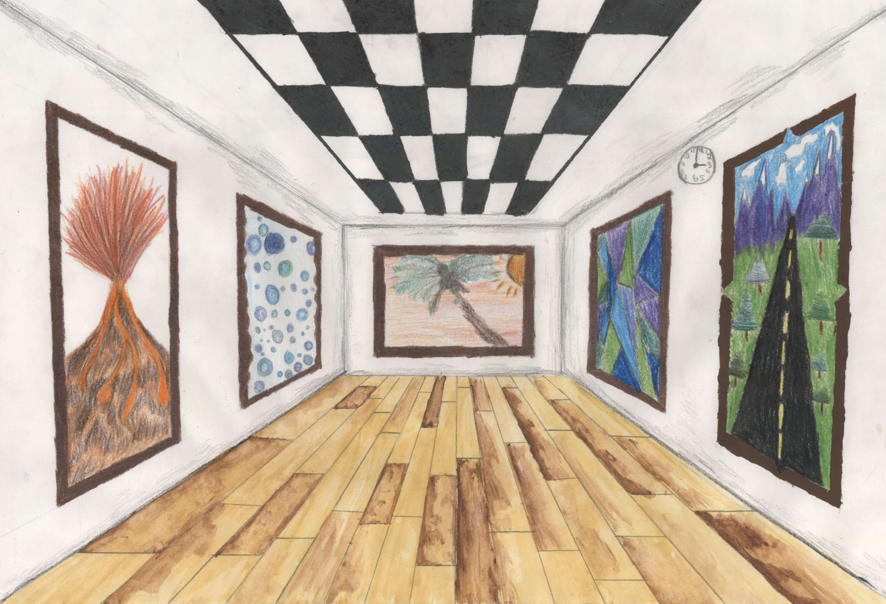 One-Point Perspective Art Gallery 1