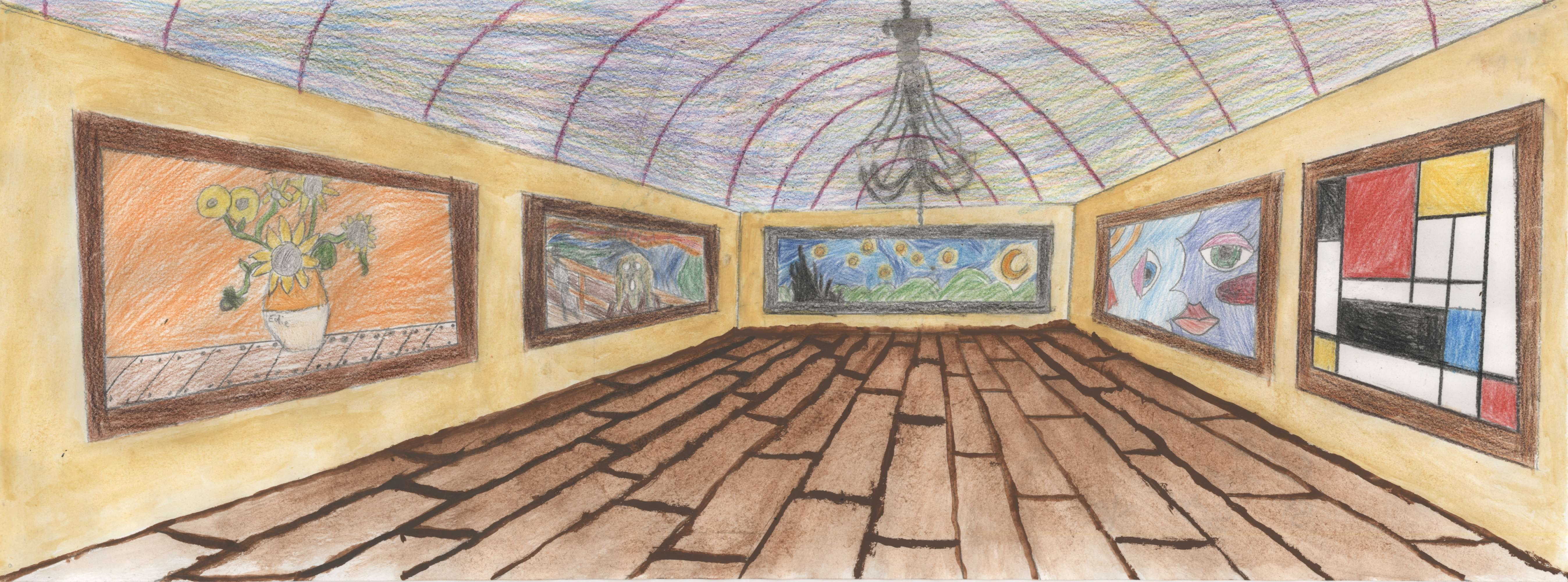 One-Point Perspective Art Gallery 2