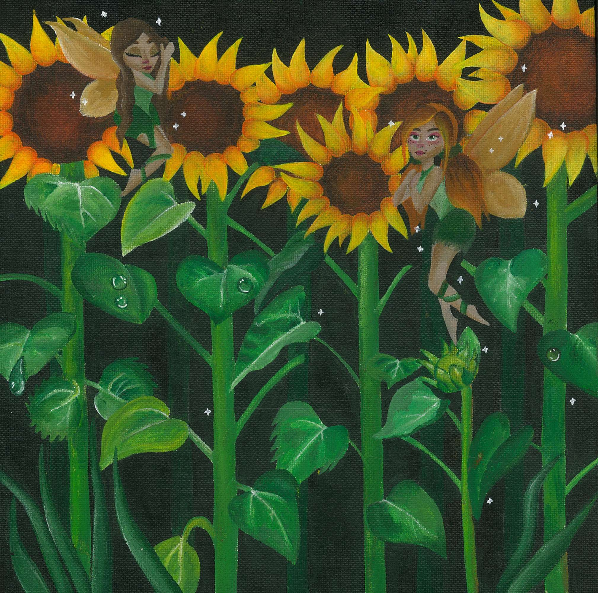 Sunflowers and Fairies