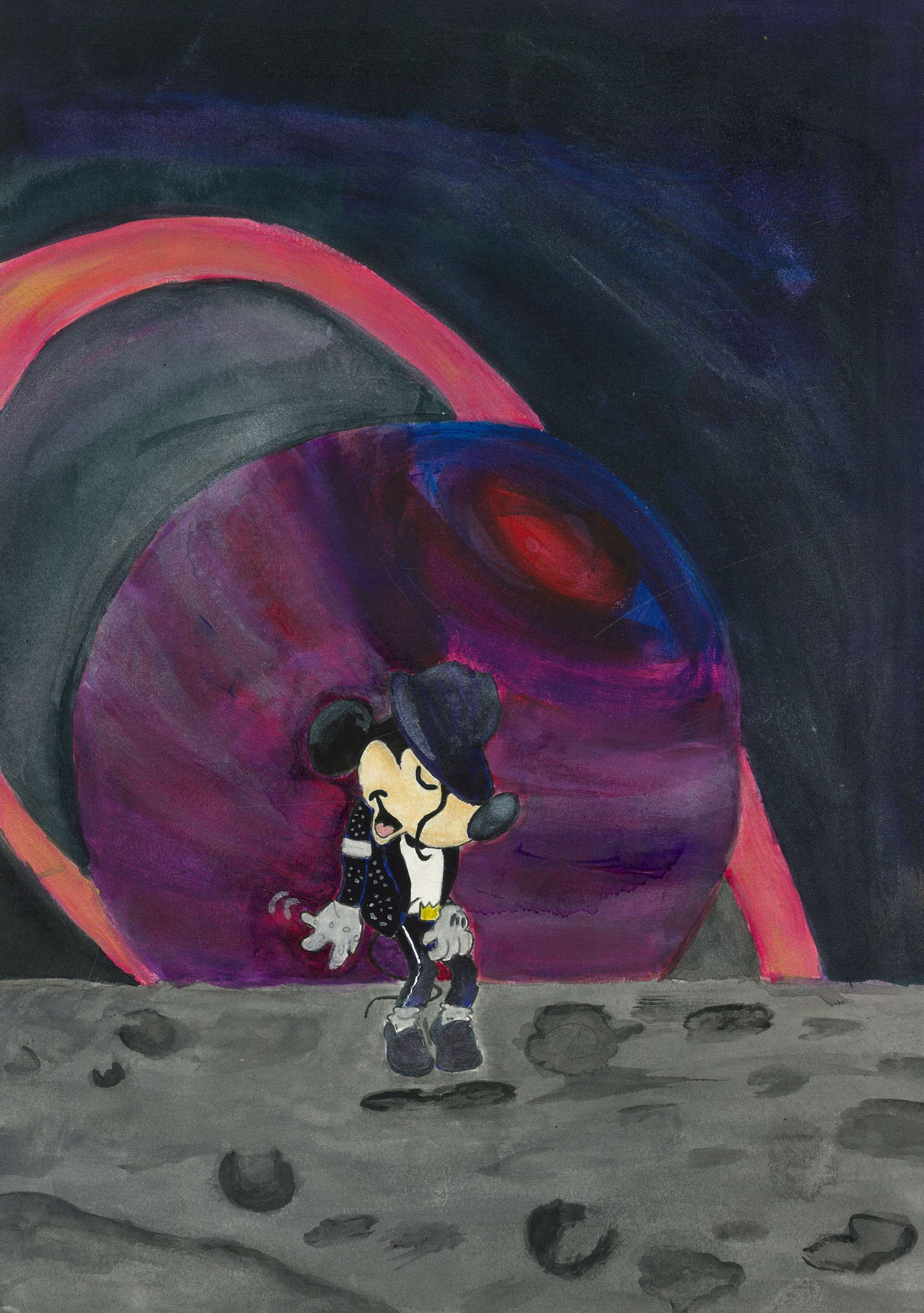 Mickey on the Moon
