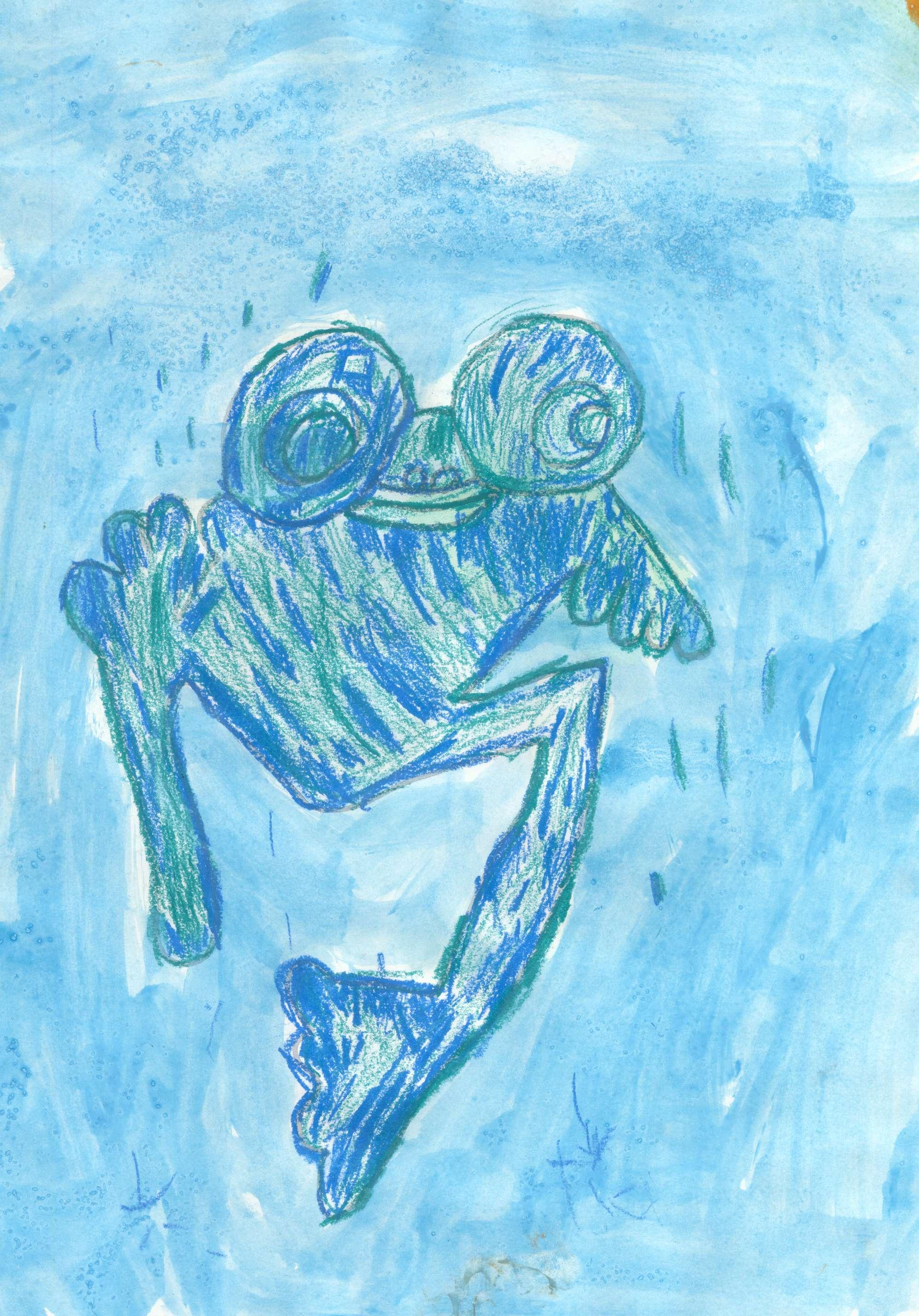 Frog waiting