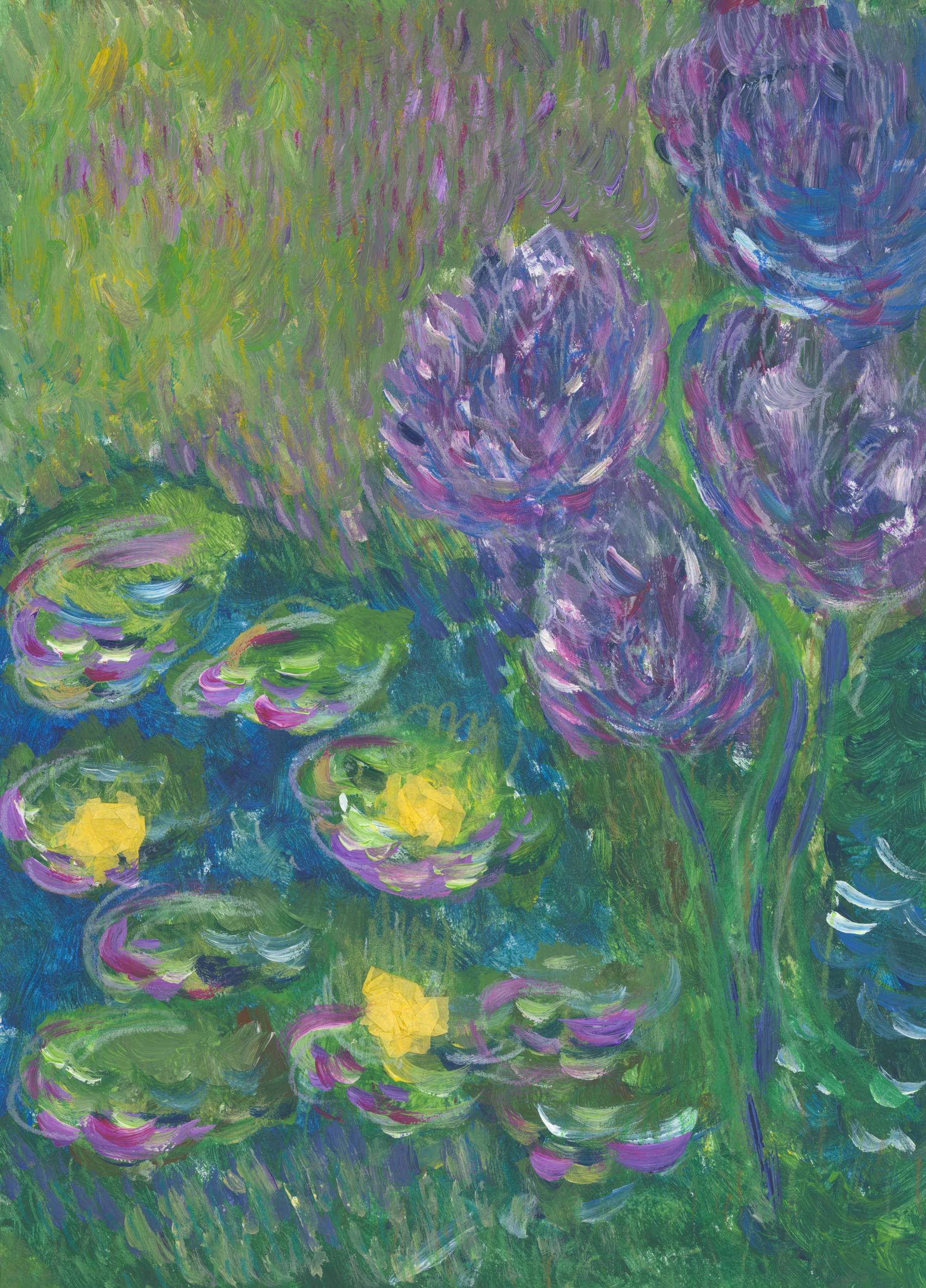 Isabel's Waterlilies and Agapanthuses