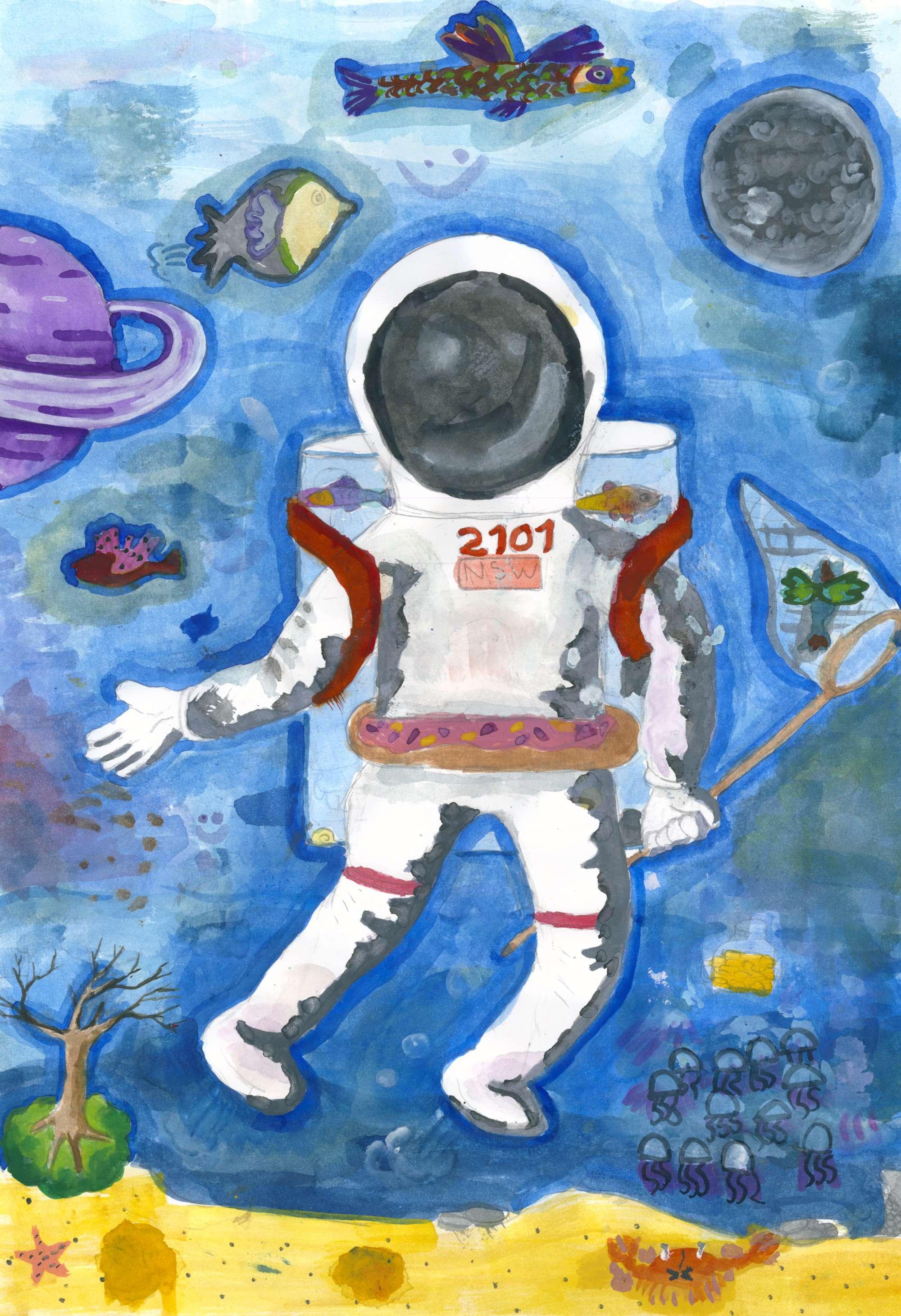 Astronaut Under the Sea