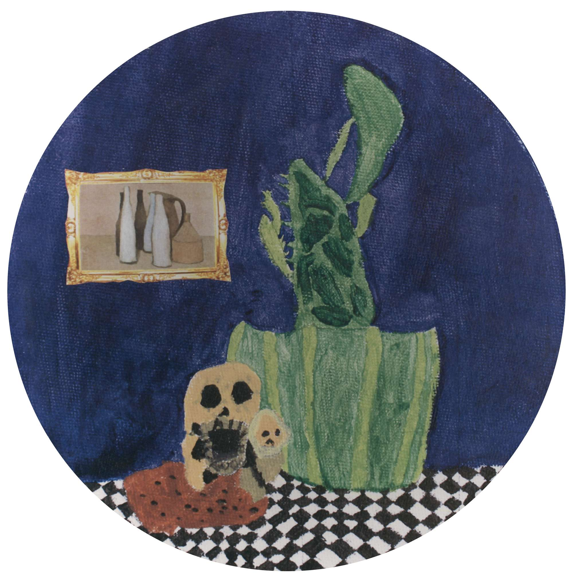 Still Life with Cactus Plant