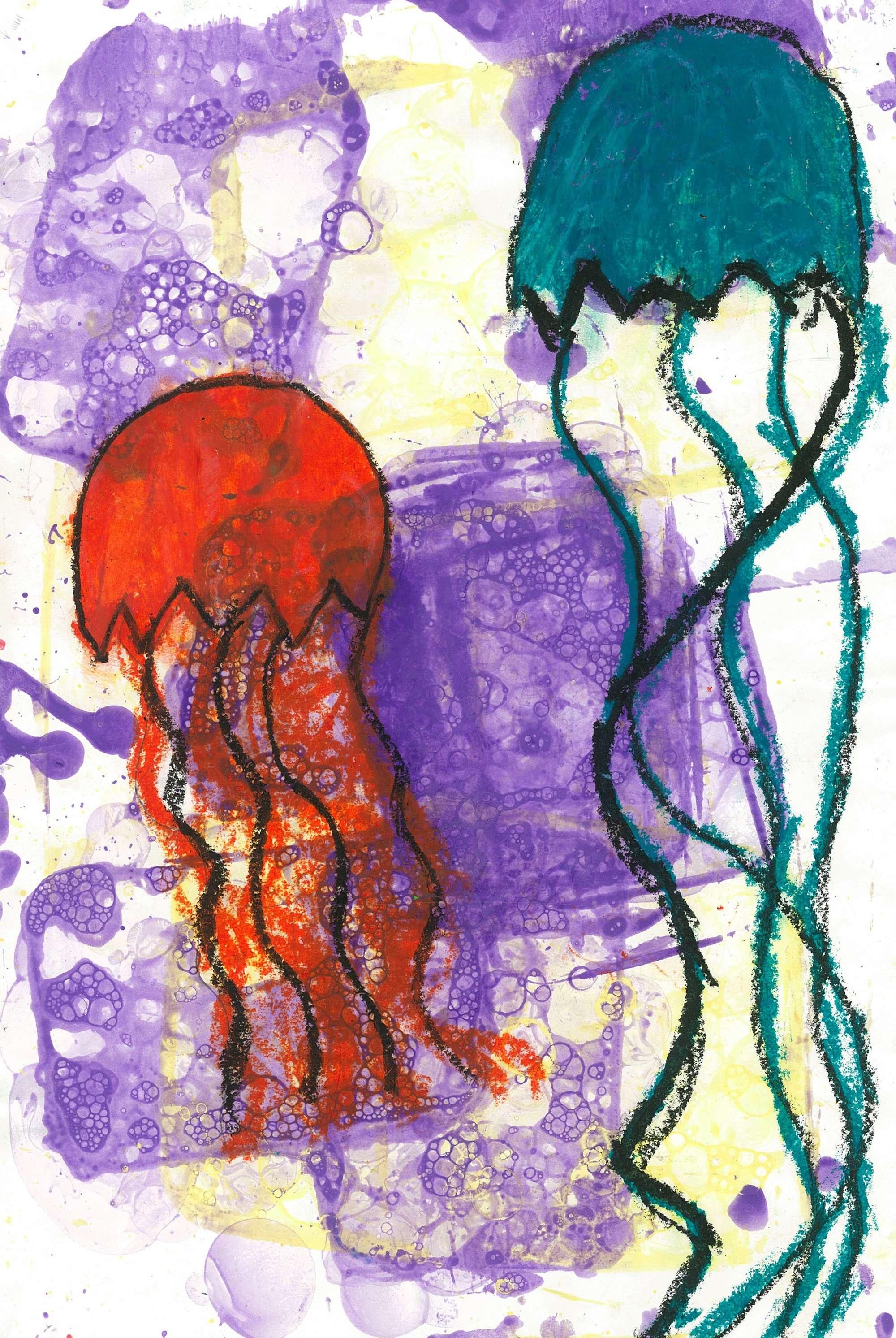 Bubble Print Jellyfish