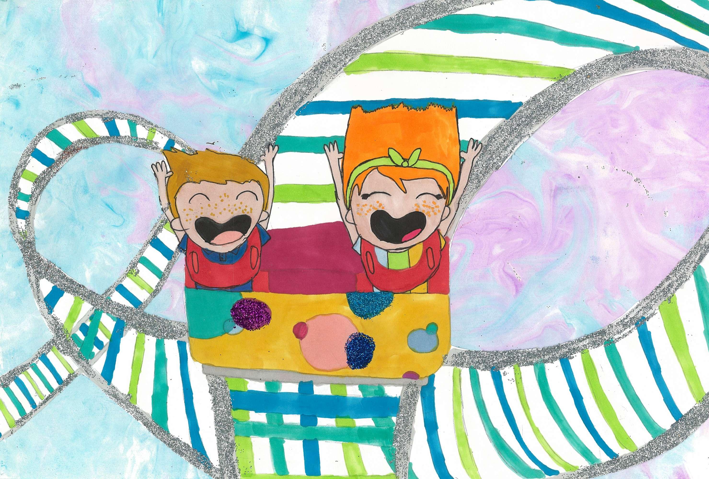 Glittery Roller Coaster