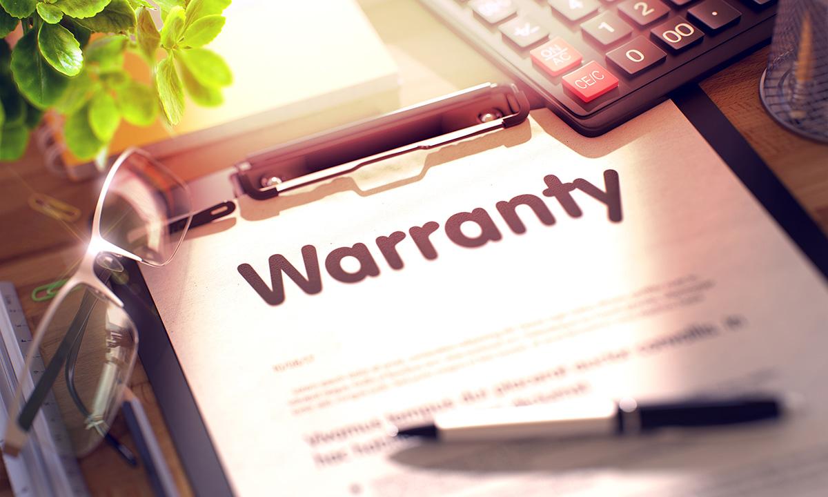 a warranty document