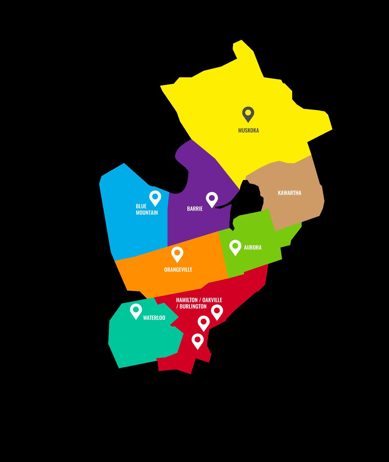 Sapphire Locations Map