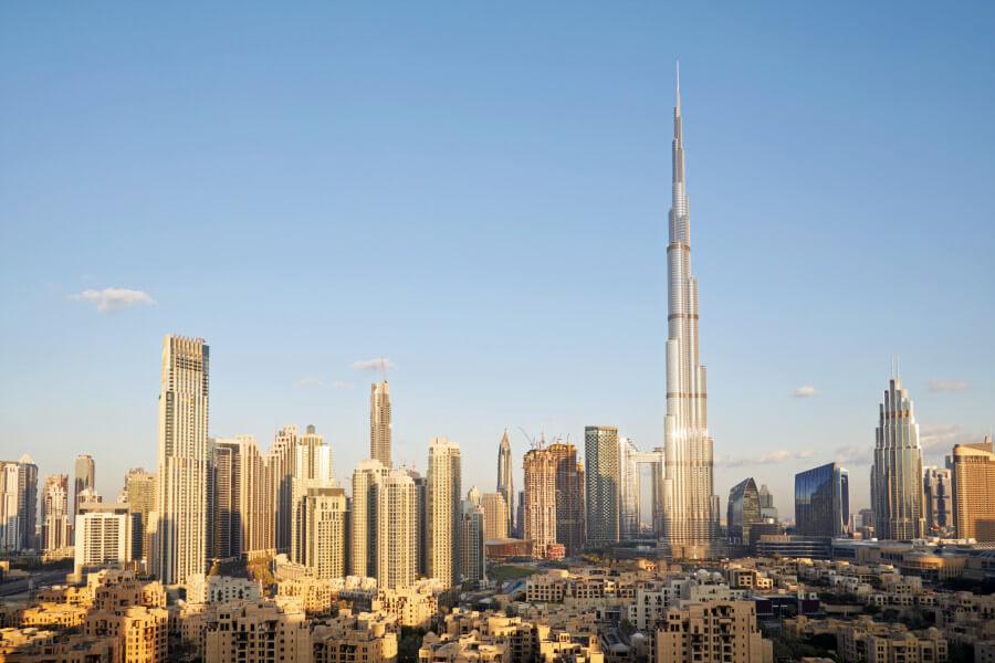 View of Burj Khalifa in Dubai