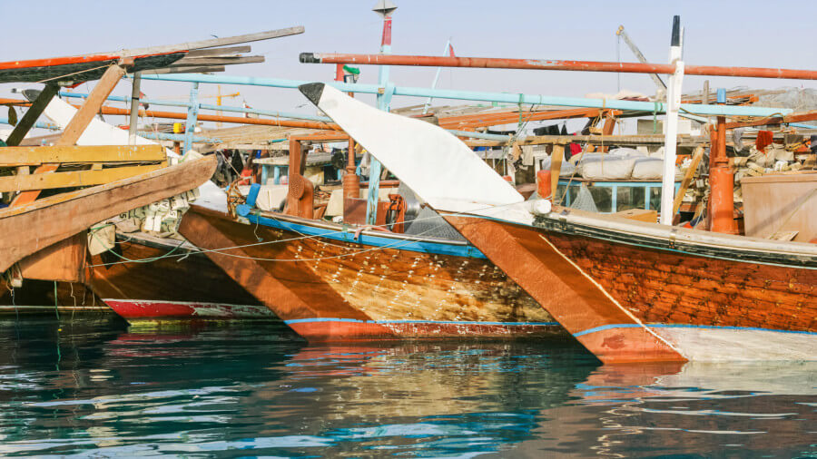 Dhow boat in old dubai