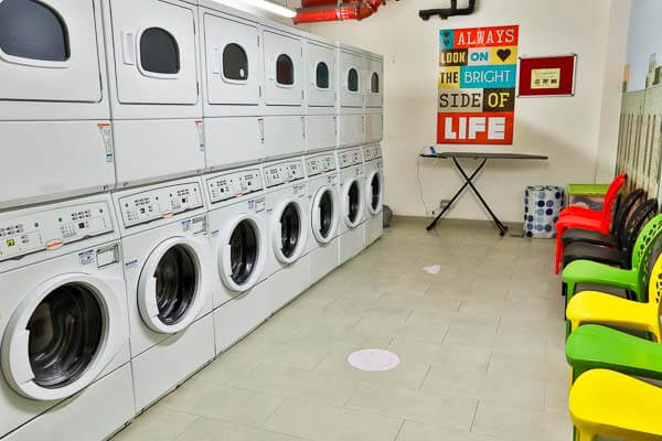 laundry room in student accommodation residence in dubai