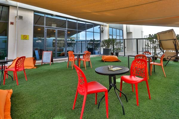terrace in student accommodation residence in dubai