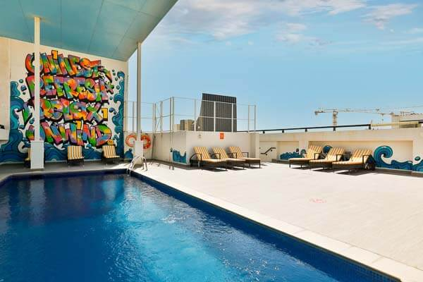pool in student accommodation residence in dubai