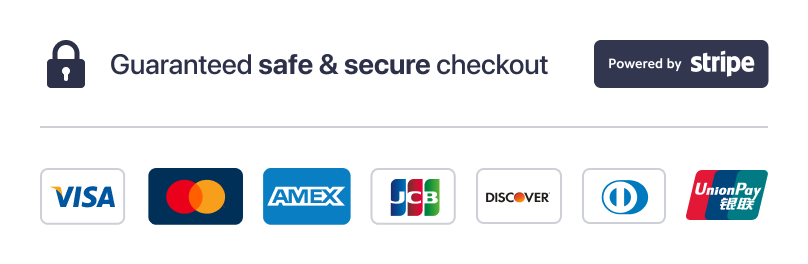 Stripe payment logos safe check out