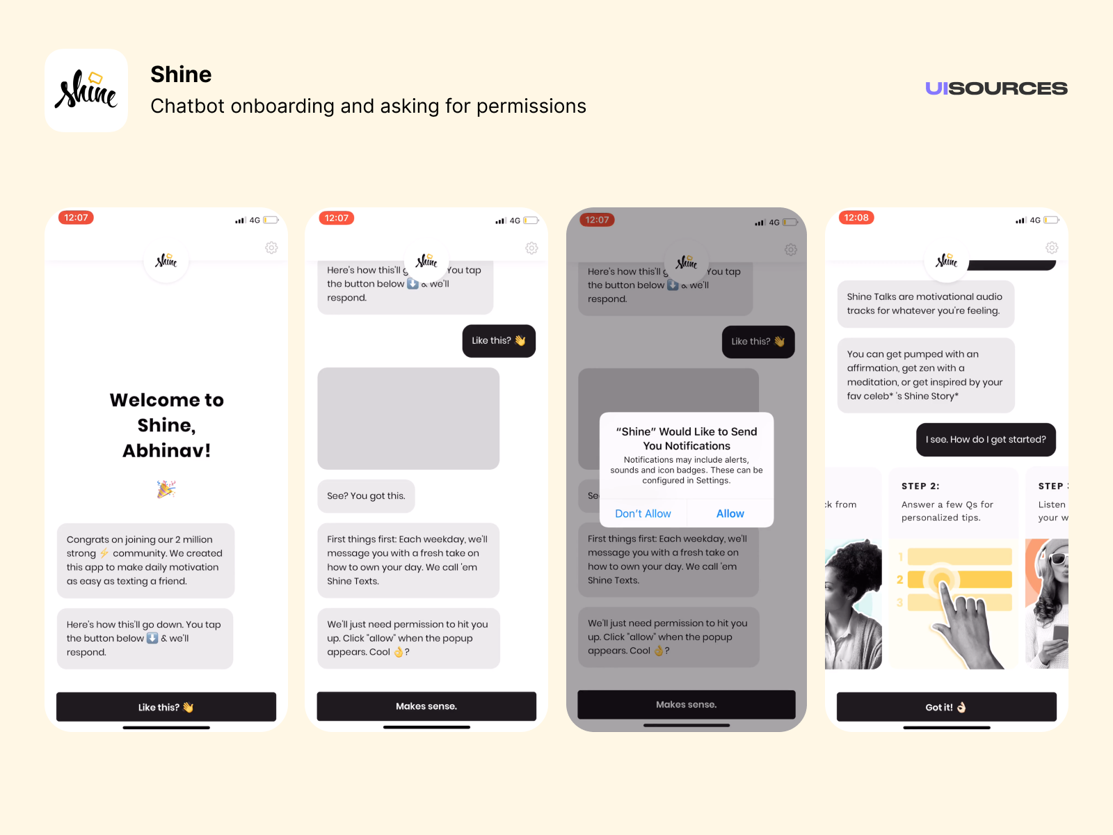 Chat bot onboarding and permissions