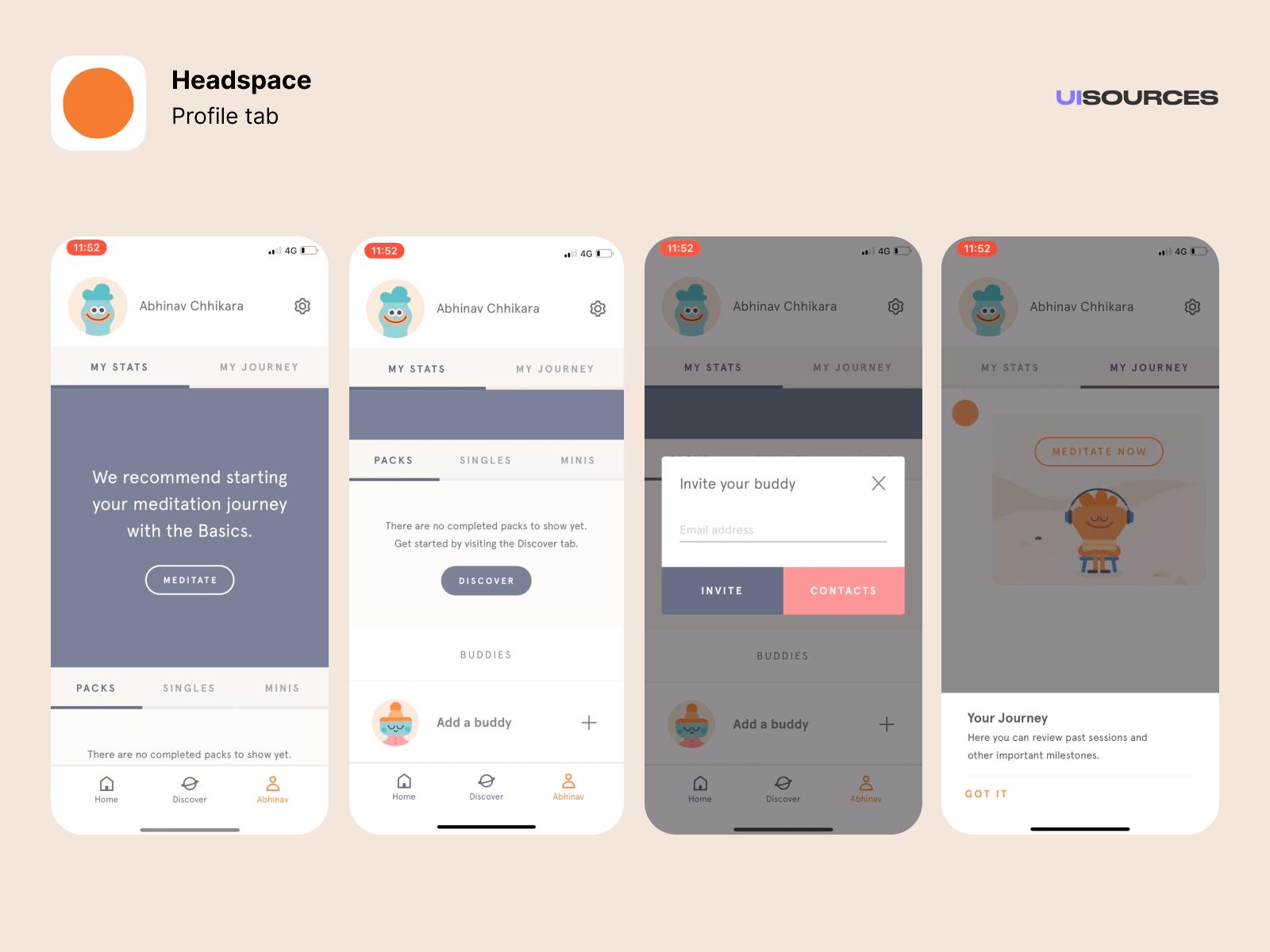Profile tab