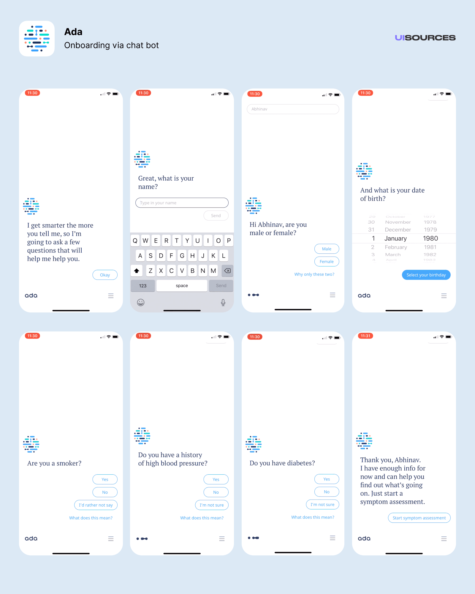 Further onboarding via chat bot