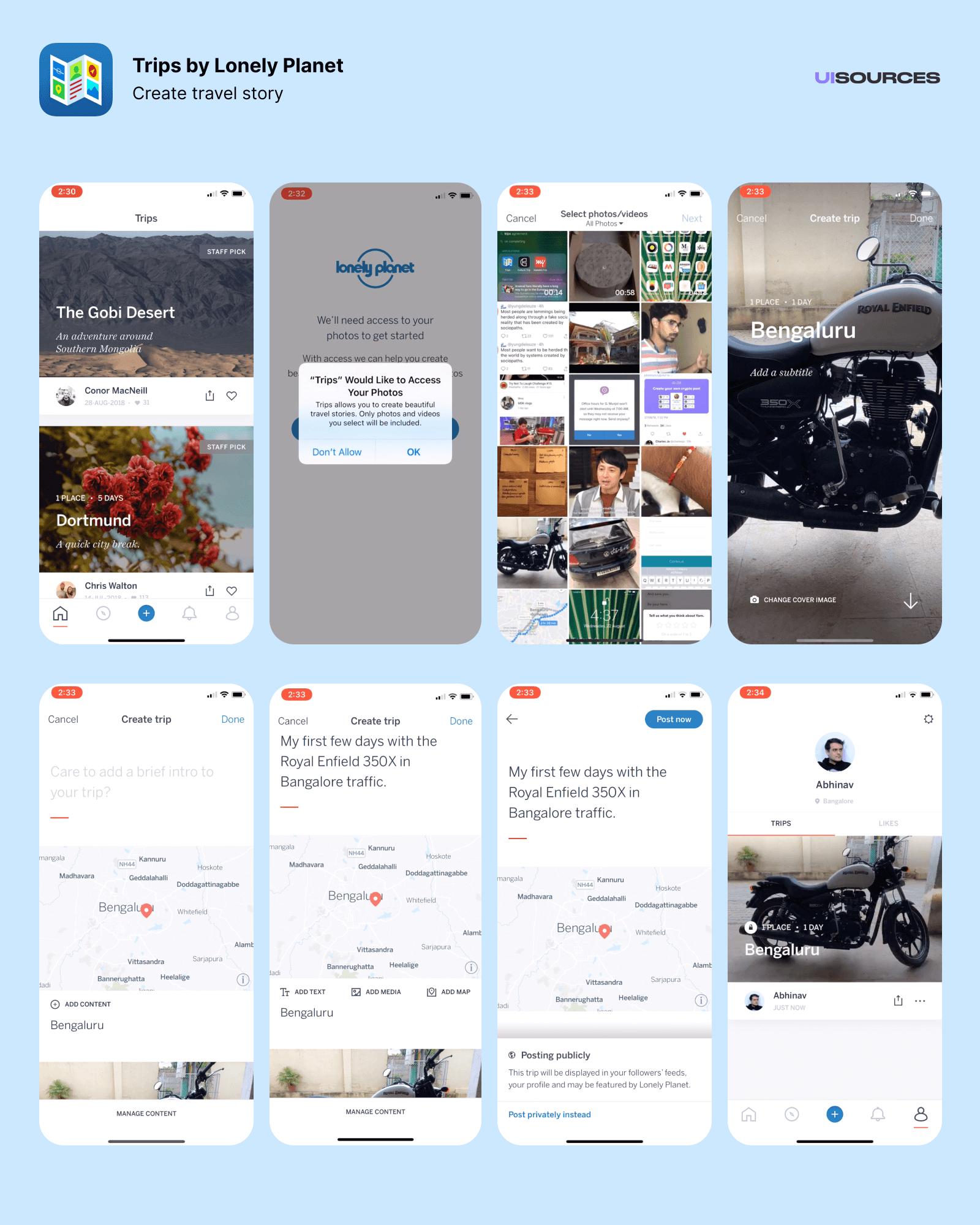 Create travel story