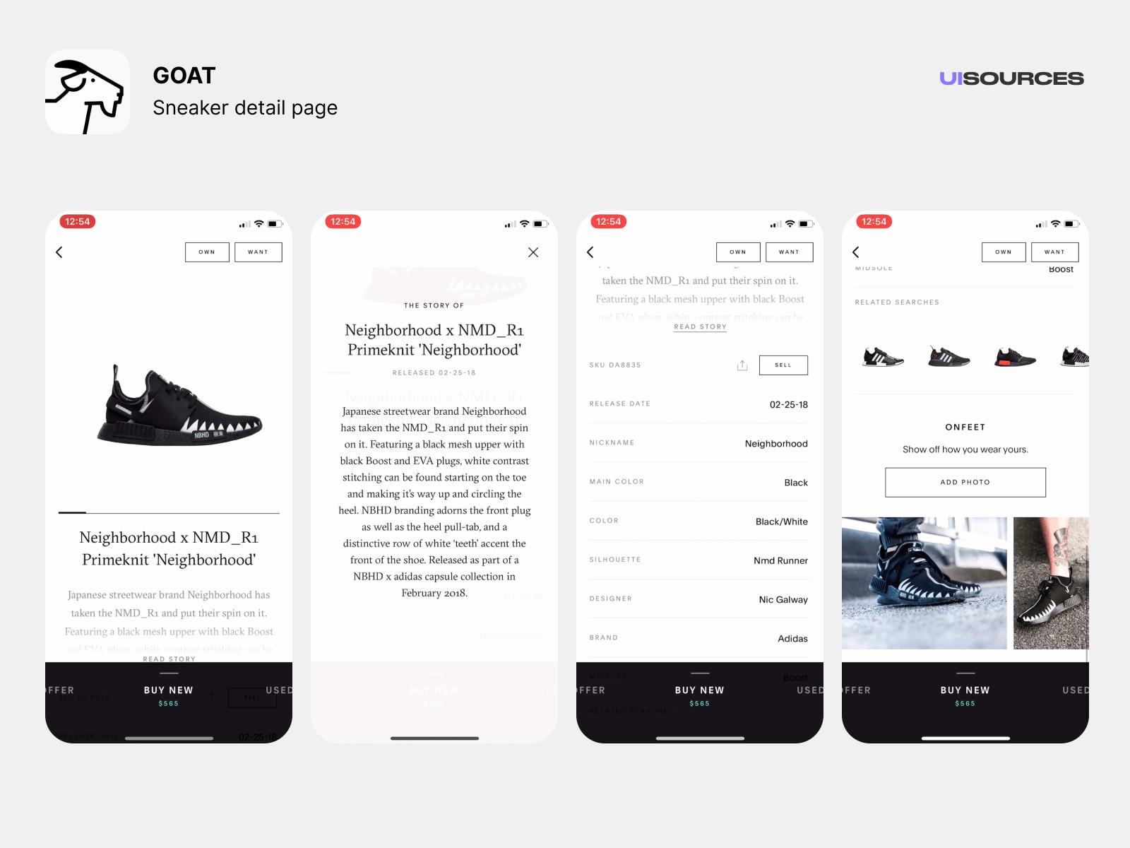 Sneaker Detail Page