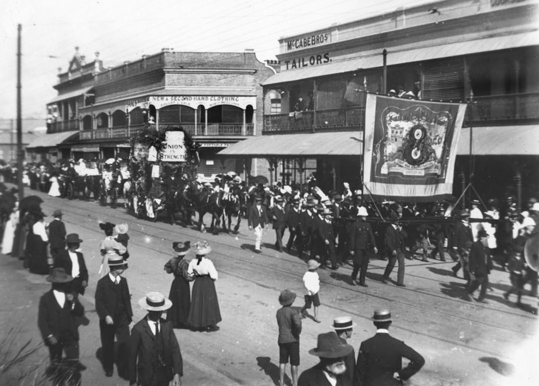 Labour Day rally in Brisbane, 1908