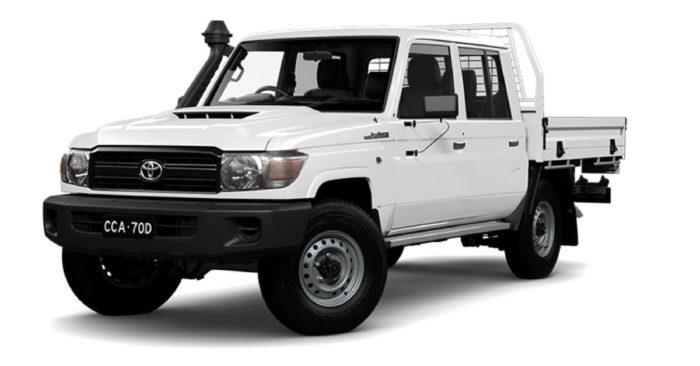 White Toyota Landcruiser