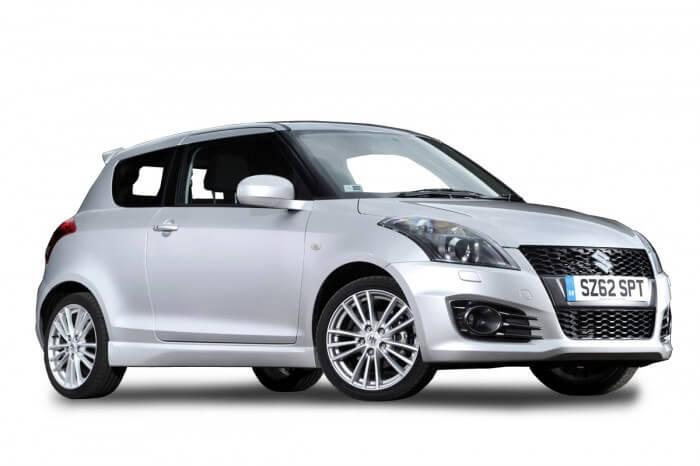 Light grey Suzuki Swift