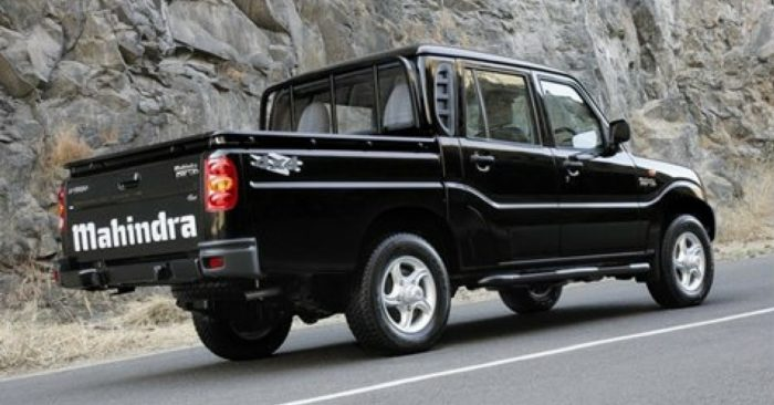 Black Mahindra Pick-Up