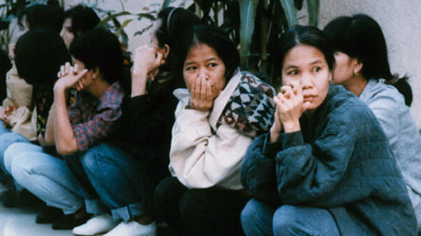Women sitting on the street