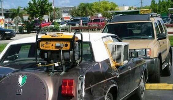 DIY aircon on car in USA