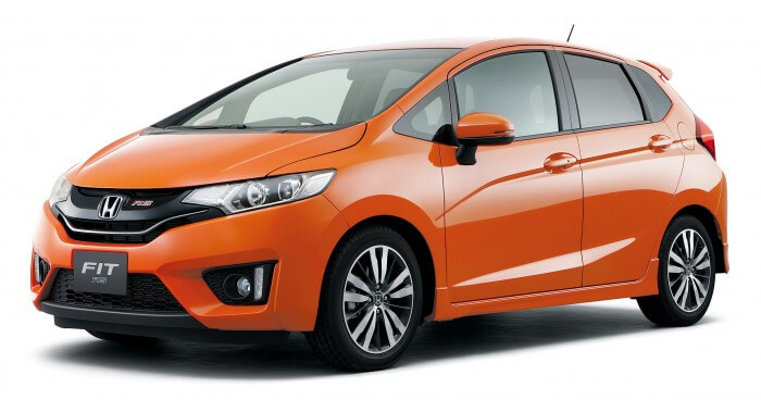 Orange Honda Jazz