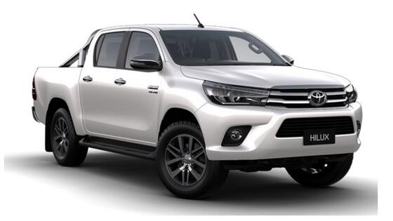 Light grey Toyota Hilux Pickup