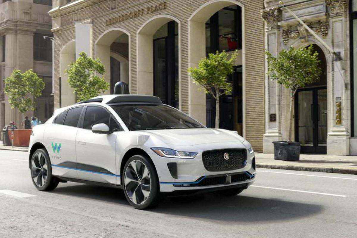 Driverless car on the street
