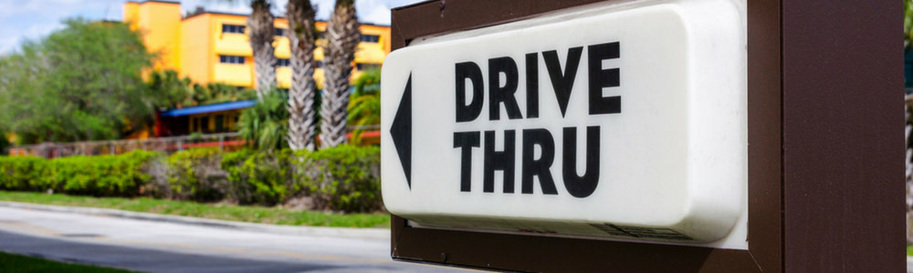 Drive-thru restaurant sign