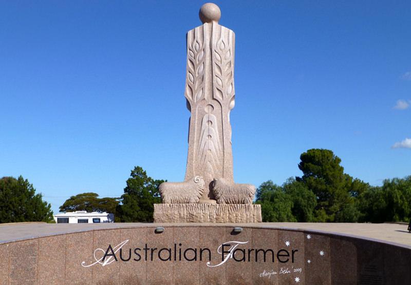 The Big Farmer statue in Wudinna, Australia