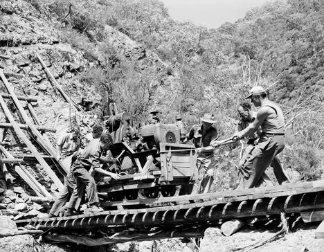 Men working on the Snowy Mountains Scheme