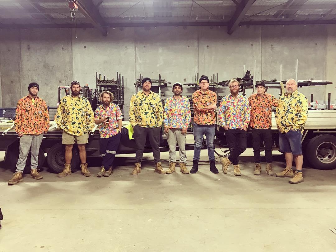 Tradies in Trademutt shirts