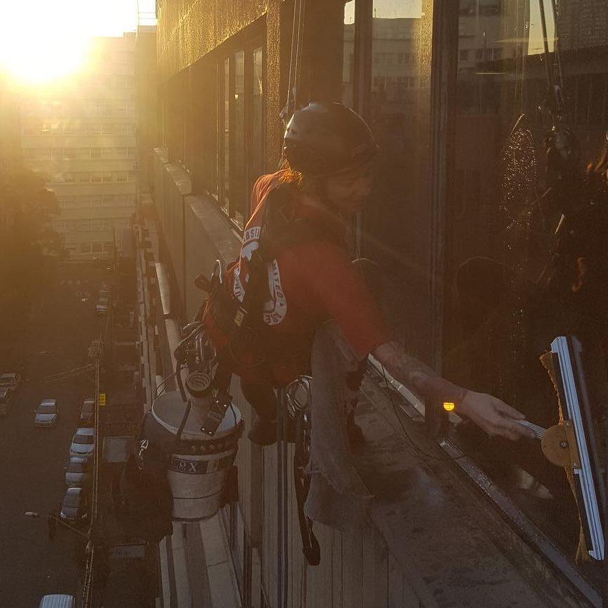 Jennifer Owens, rope access worker