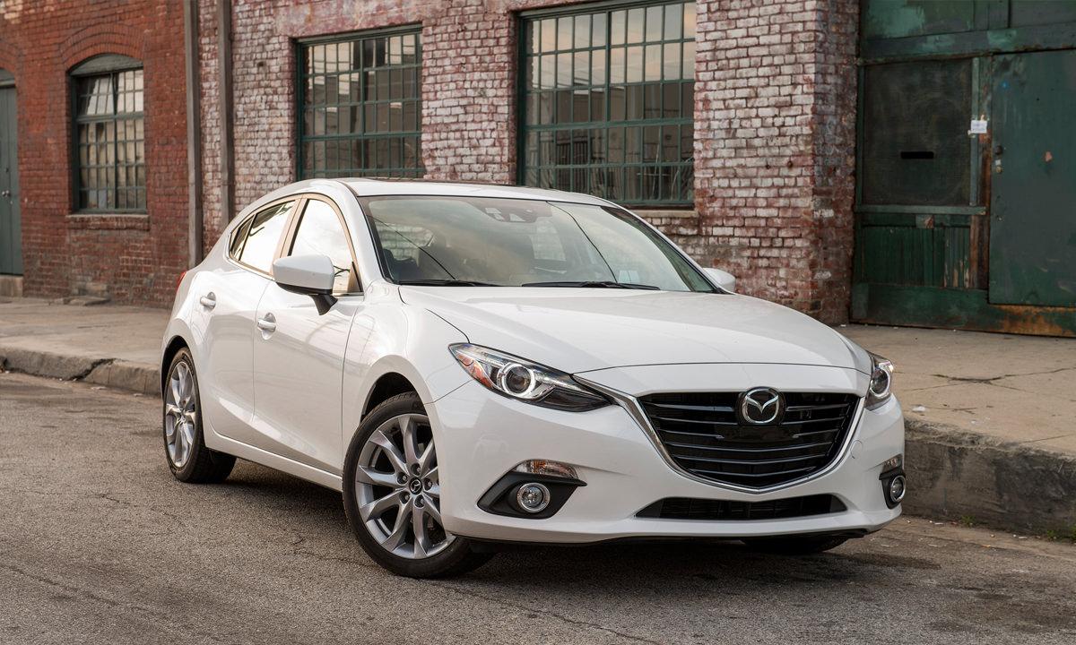 White Mazda 3