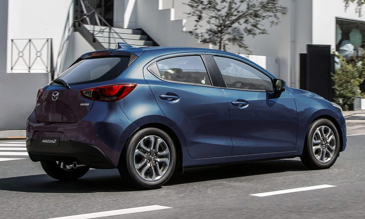 Blue Mazda 2 Neo