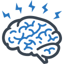 Brain injury compensation icon