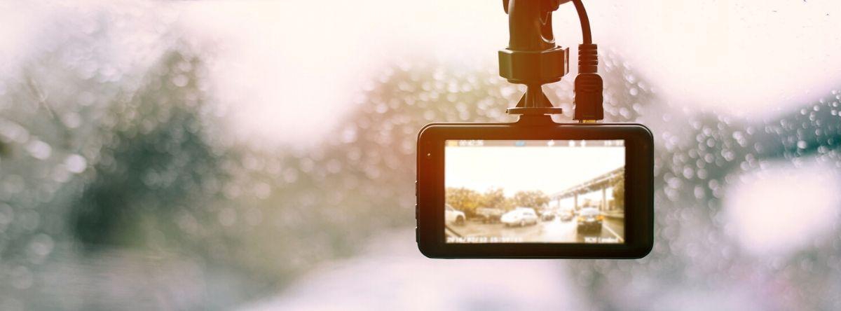 Dash cam in the rain