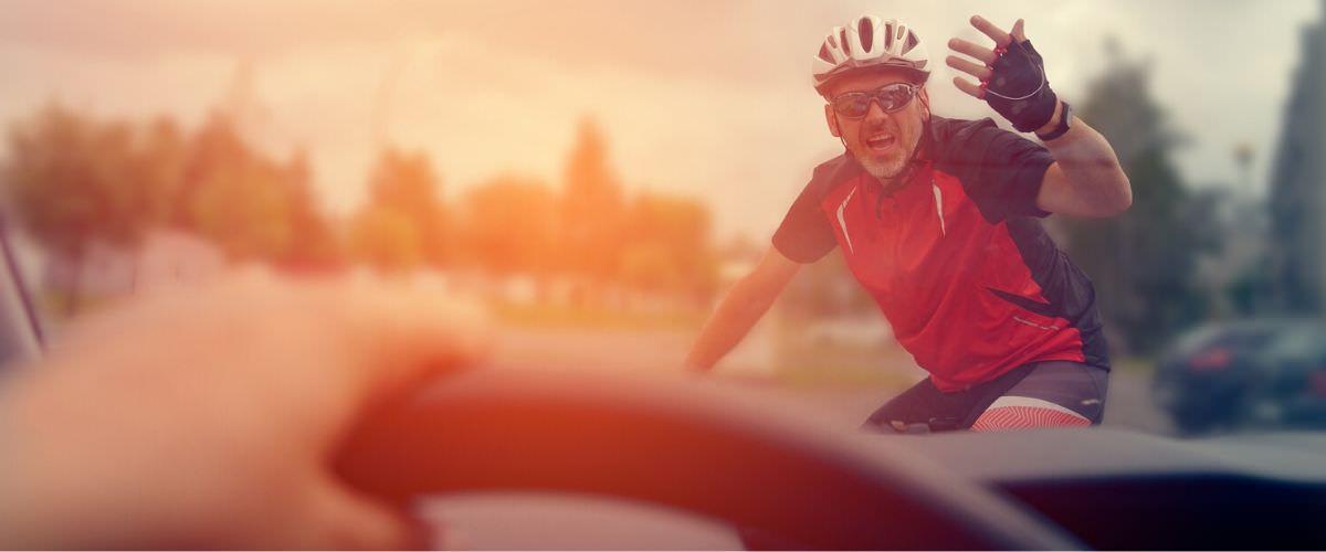 Cyclist upset at driver