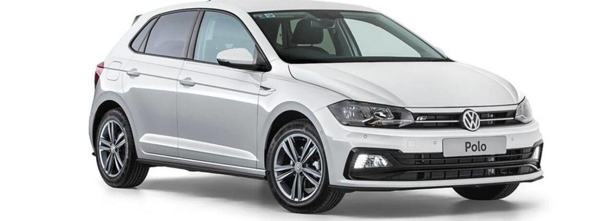 White Volkswagen Polo