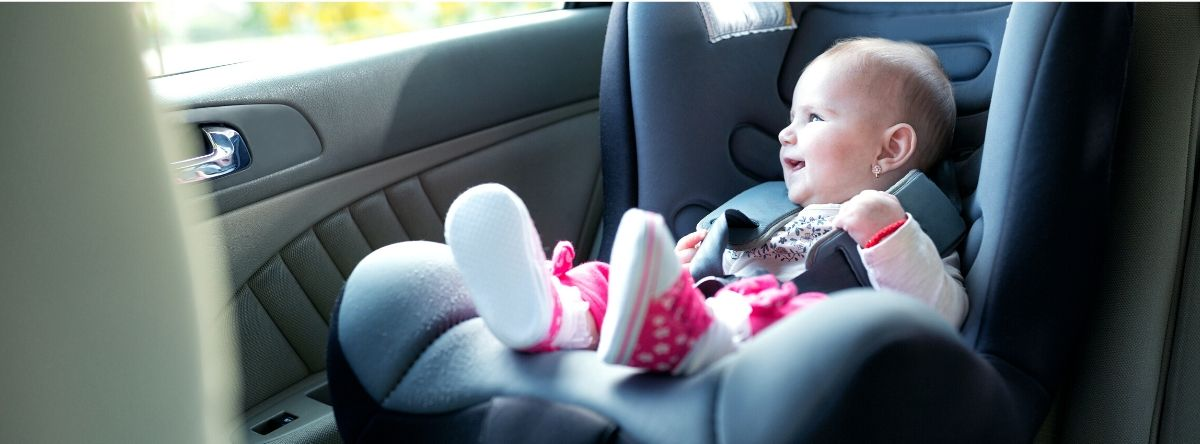 6-Months baby on car seat