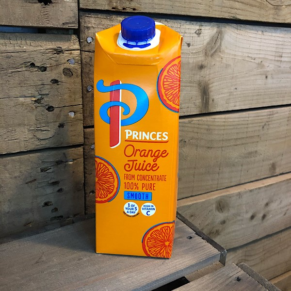 Princes Orange Juice Smooth 1L carton