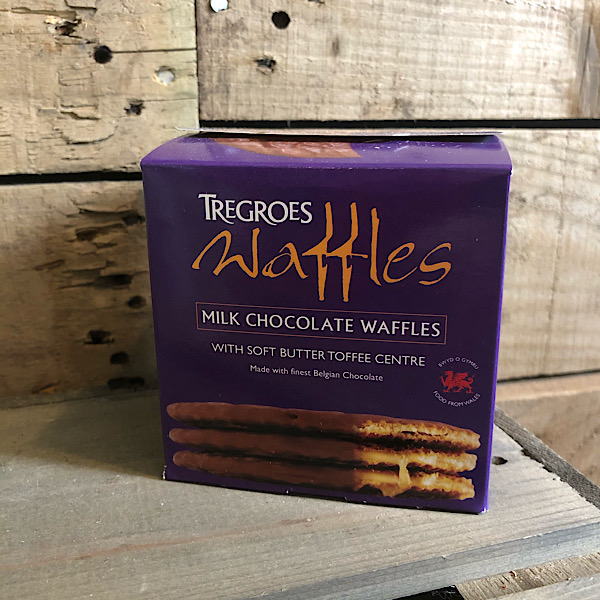 Tregroes Butter Toffee Waffles - Chocolate Covered