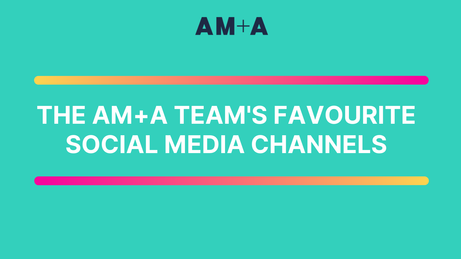 An insight into the AM+A team's favourite social media channels