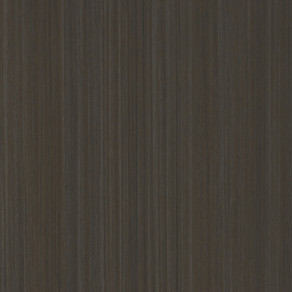 Dark grey ovankol wood textured melamine finish