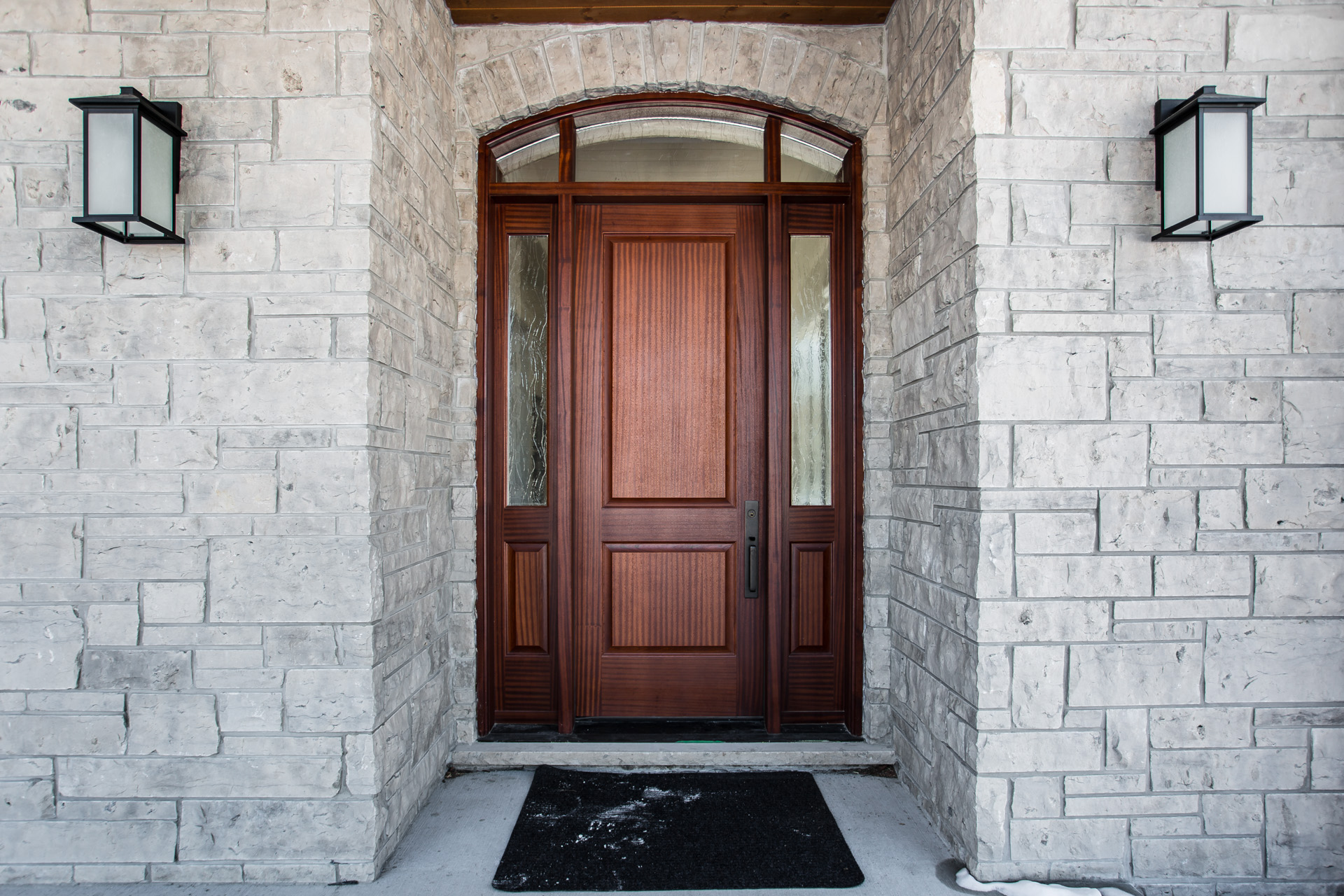 Custom wooden entry door
